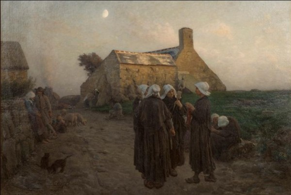 Jules Breton (French, 1827-1906), Evening in the Hamlet of Finistère, 1882, Paine Art Center and Gardens
