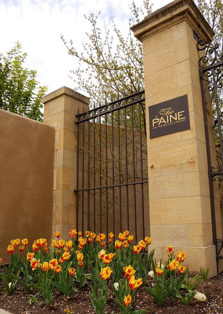 Gate and Column - Paine Art Center and Gardens