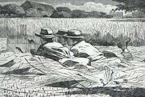 Winslow Homer, The Bird Catchers, Our Young Folks, August 1867, Wood engraving