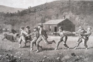 Winslow Homer, Snap the Whip, Harper's Weekly, September 20, 1873, Wood engraving