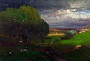 George Inness (American, 1825-1894), The Approaching Storm, 1873, Oshkosh Public Museum