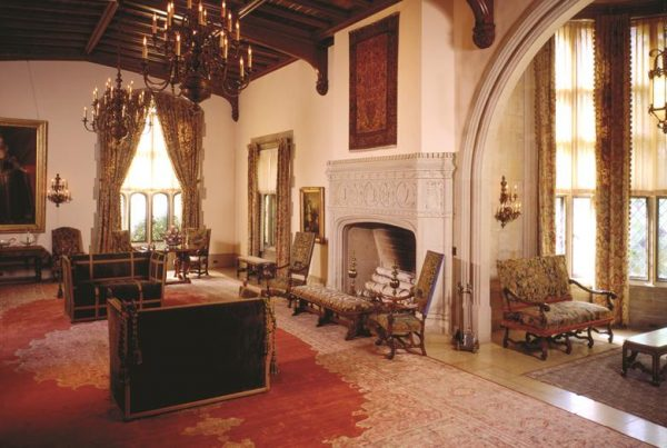 View of the Great Hall in the Paine Mansion