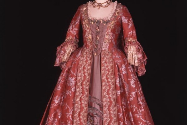 Red dress called Dangerous Liasions from the Fashion in Film exhibit