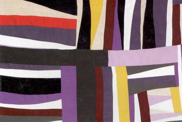 Stripes of square color in Mary Lee Bendolph Strips and strings, 2003 Cotton