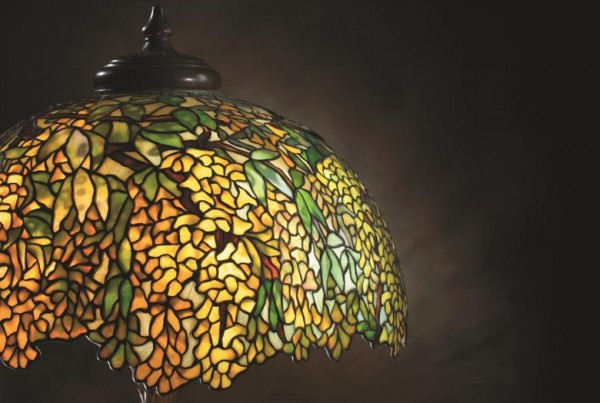 Detail of a Tiffany lamp
