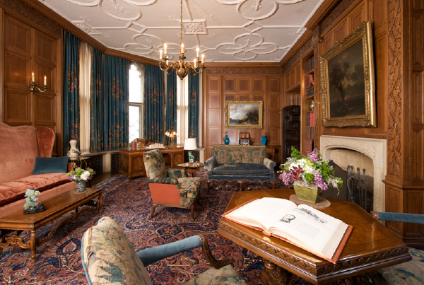 A historic living room in the Paine Mansion