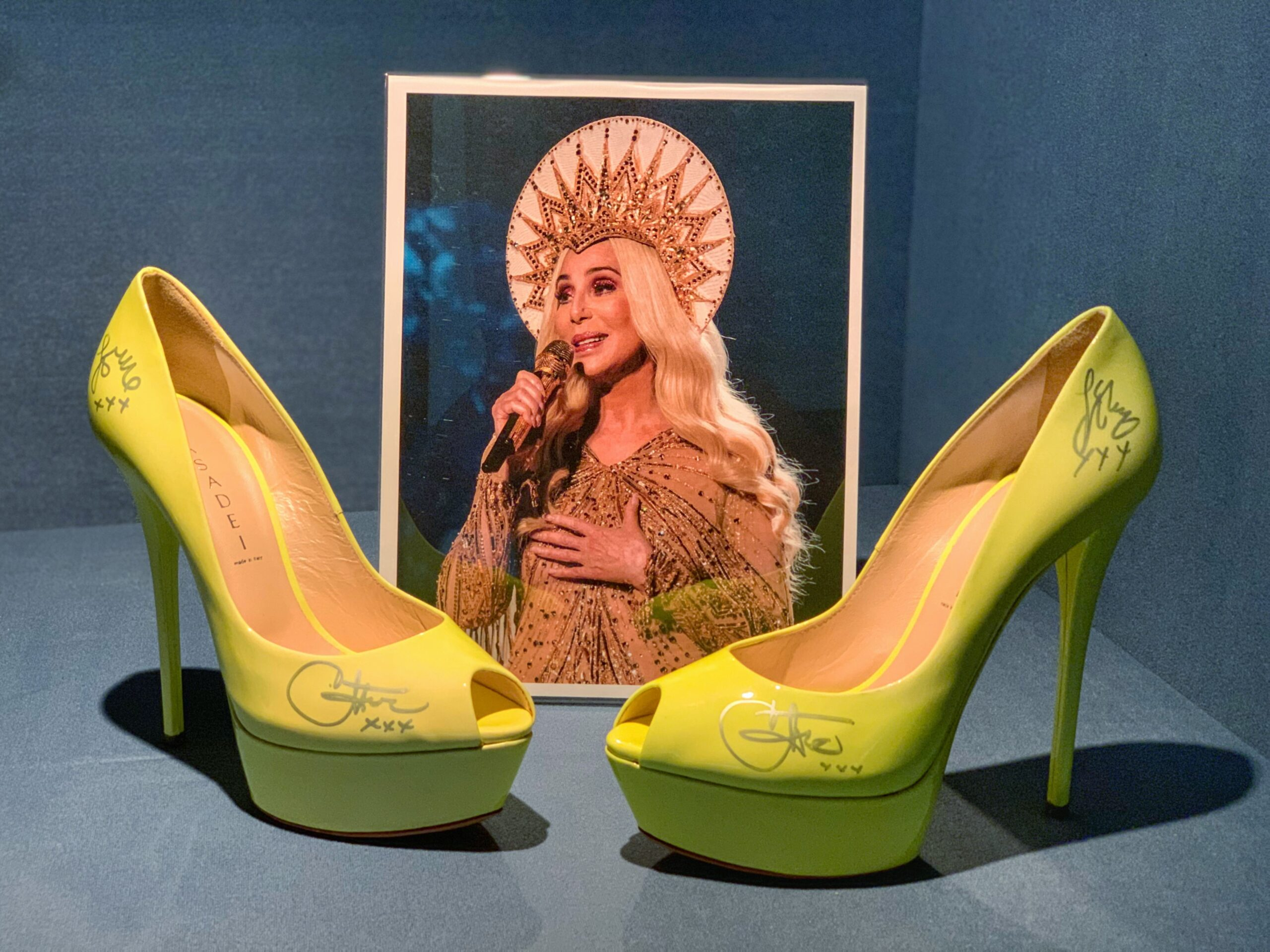 Yellow shoes worn by Cher