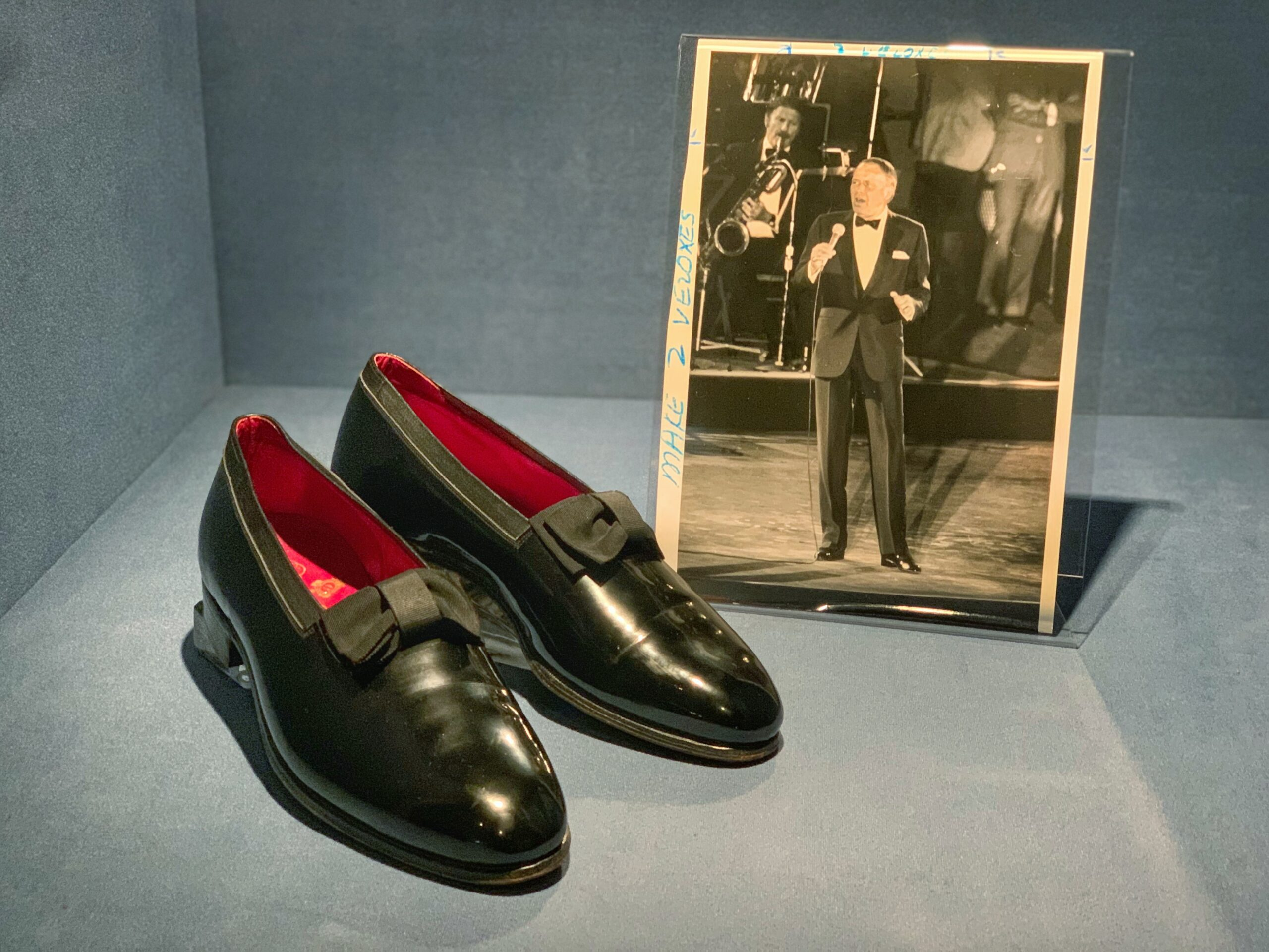 Patent leather shoes worn by Frank Sinatra