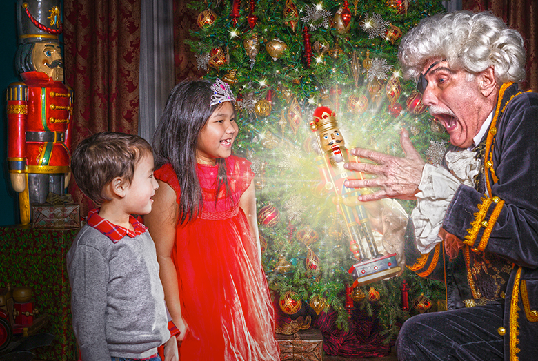 Drosselmeyer with boy and girl